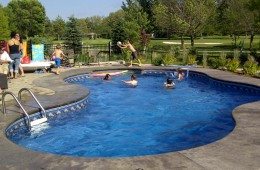 Backyard Pool – Everyone Having Fun