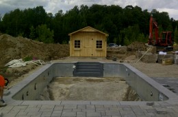 Backyard Pool – Construction & Completion #1