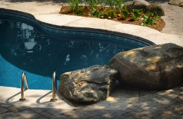 Backyard Pool – With Rock Feature