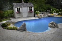 Backyard Pool – With Pool House