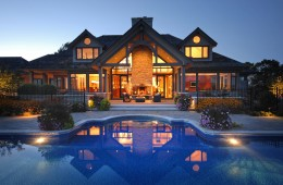 Backyard Pool – With Lighting System – Evening Profile