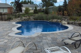 Backyard Pool – With Stone Patio